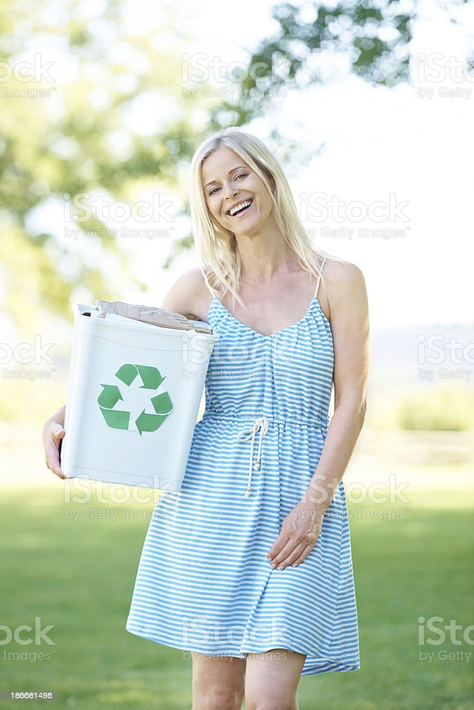 Recycling - it's the right thing to do royalty-free stock photo