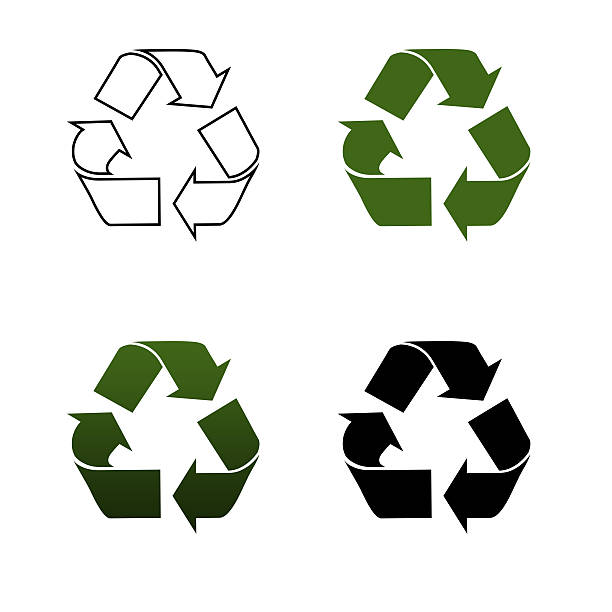 recycling logos - recycling symbol stock photos and pictures