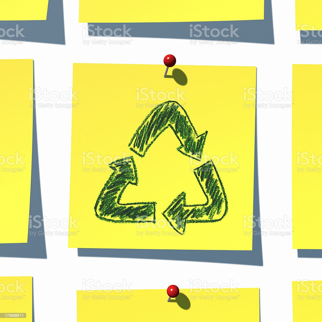 Recycling Note XL royalty-free stock photo