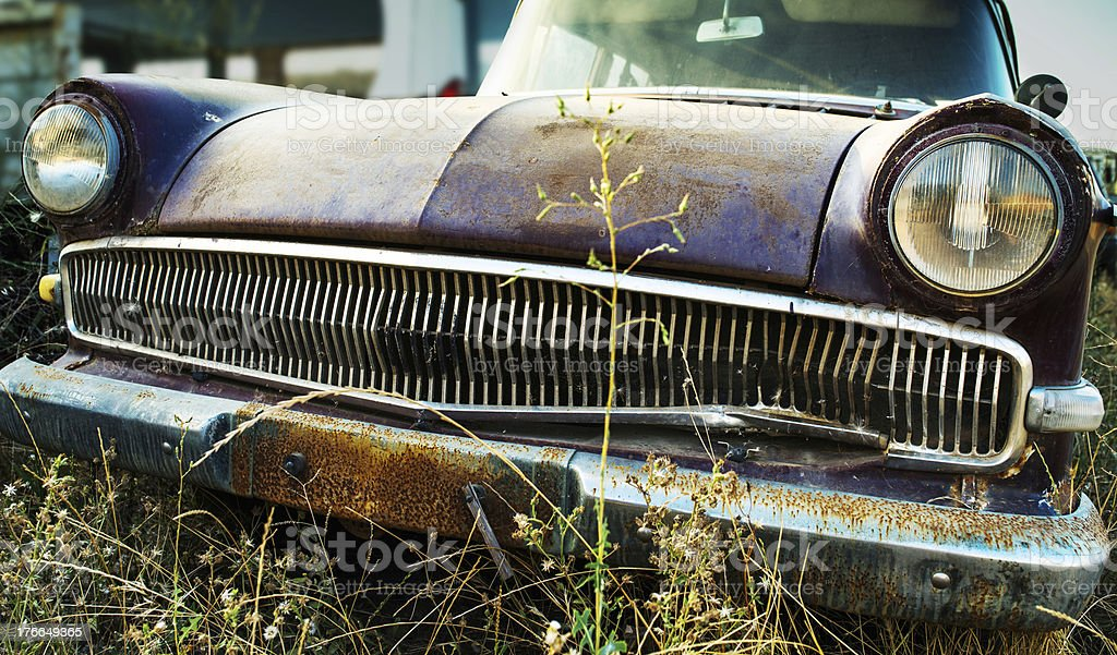 Recycling of car royalty-free stock photo