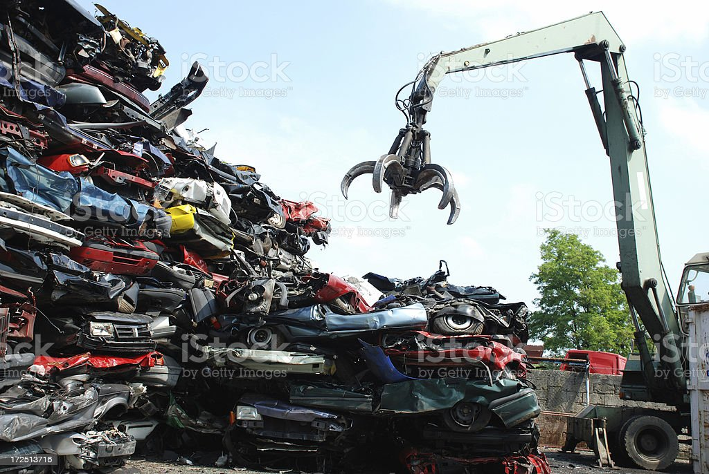 Recycling von Autos – Foto