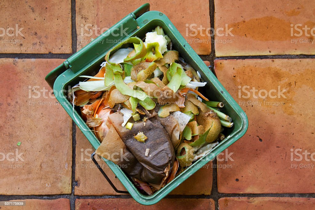 Recycling organic kitchen waste stock photo