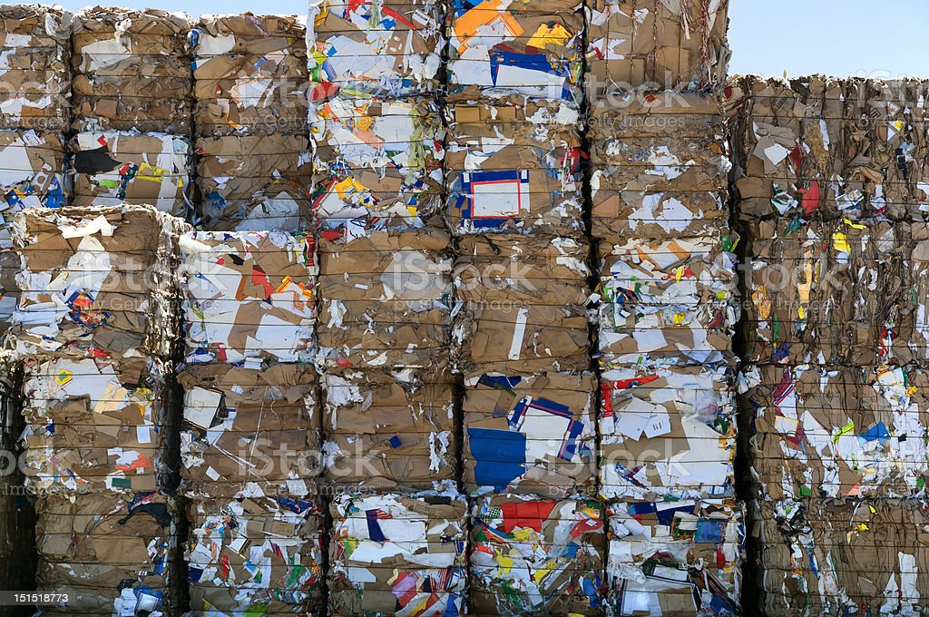 Recycling paper cubes royalty-free stock photo