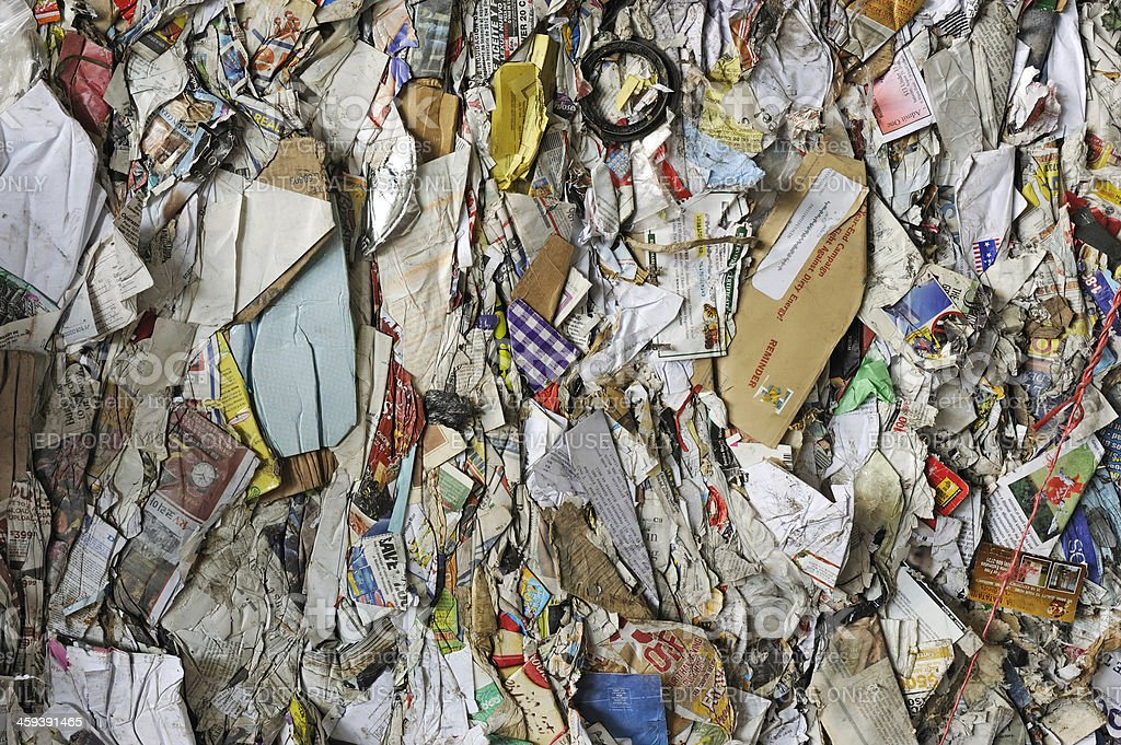 recycling paper royalty-free stock photo
