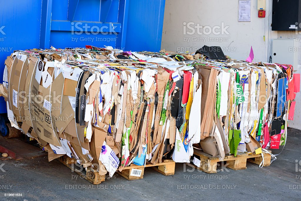 Recycling paper stock photo
