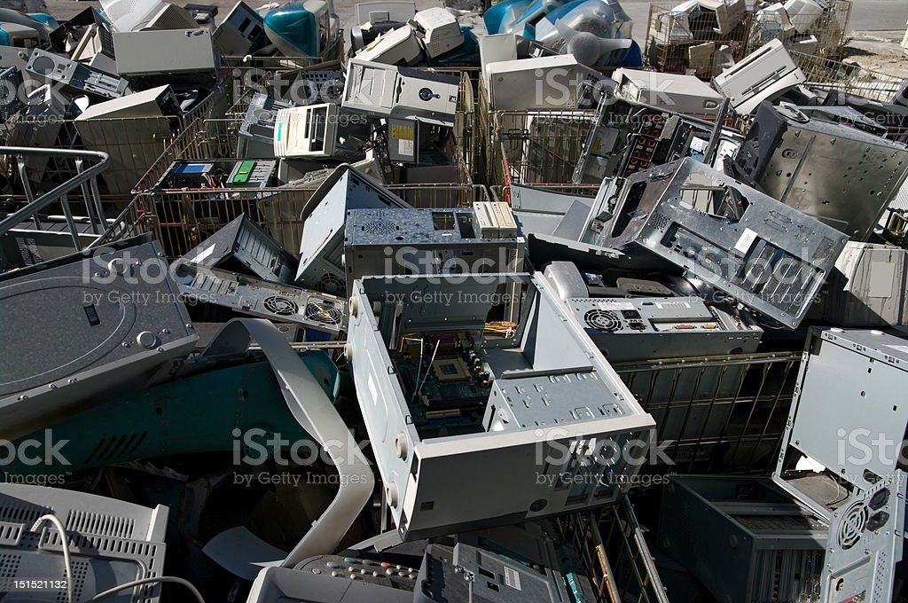 CPU recycling royalty-free stock photo