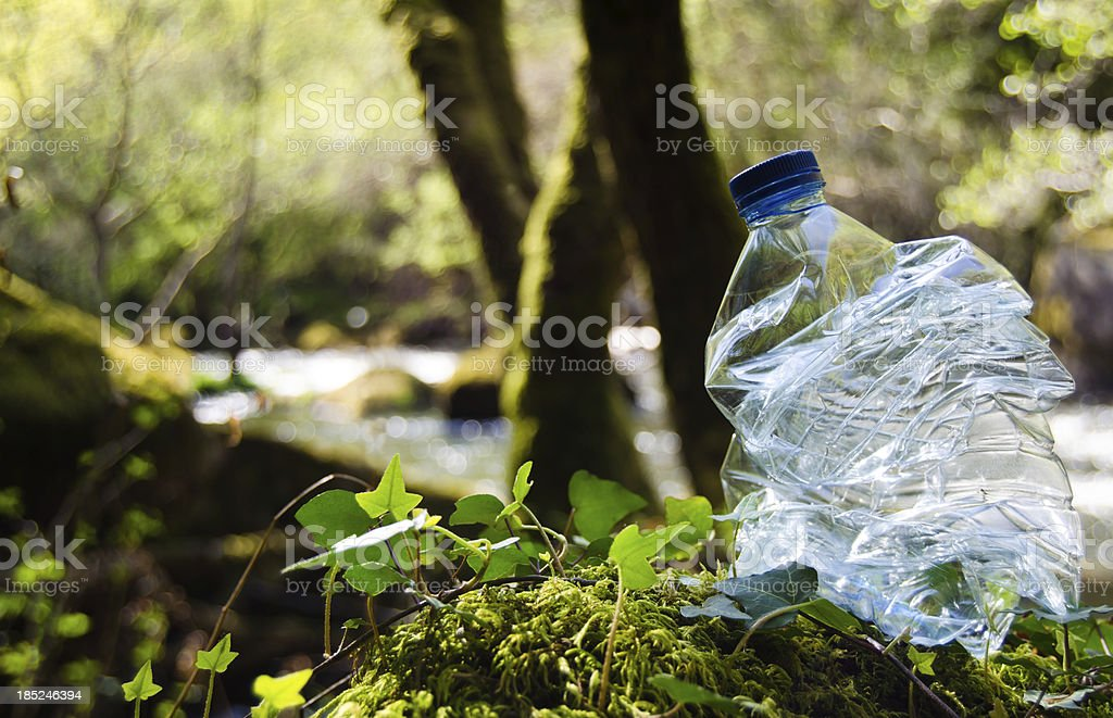 Recycling plastic stock photo