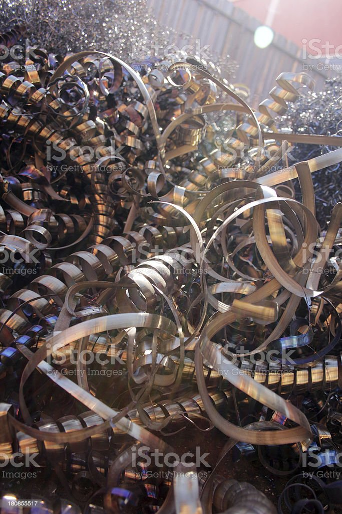 Recycling swarf royalty-free stock photo