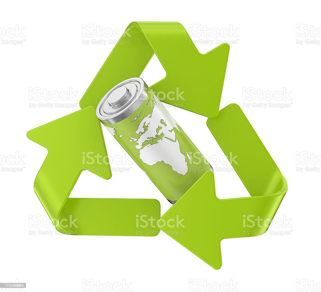 Recycling Symbol - Energy royalty-free stock photo