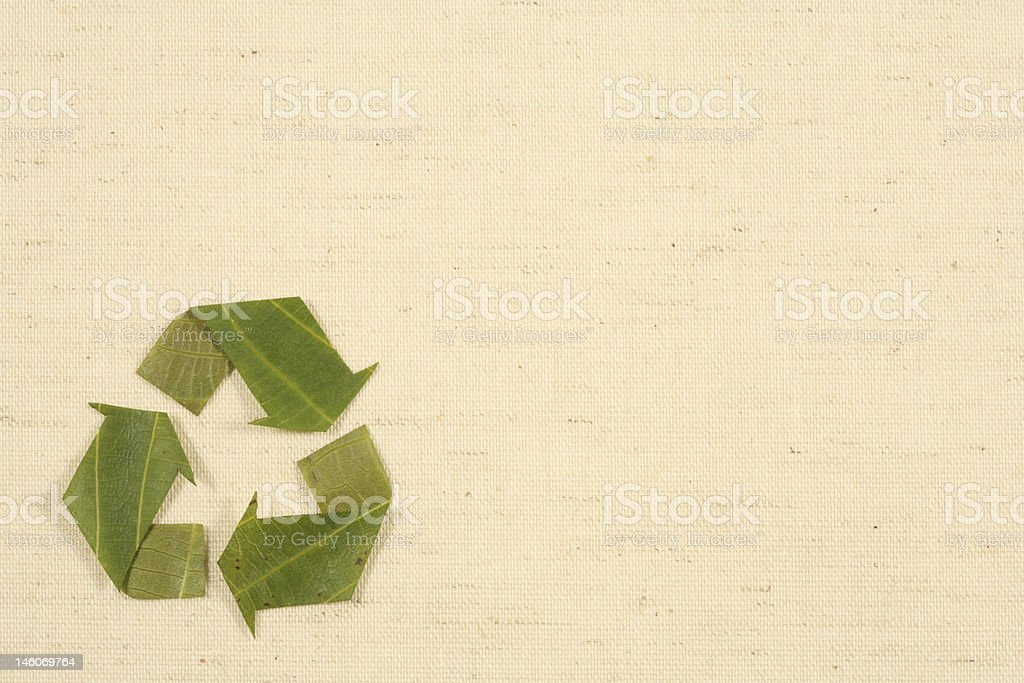 recycling symbol made fom leaves royalty-free stock photo