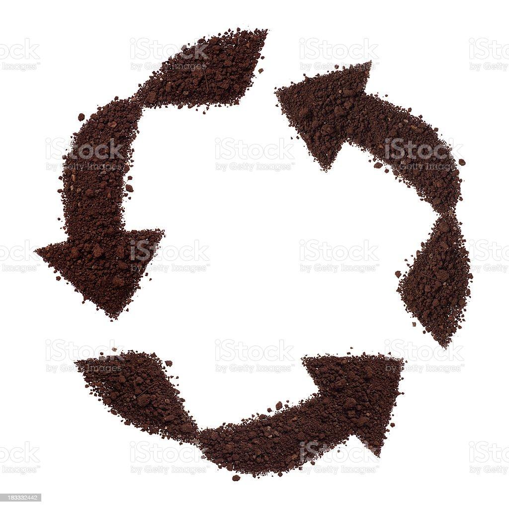 recycling symbol royalty-free stock photo