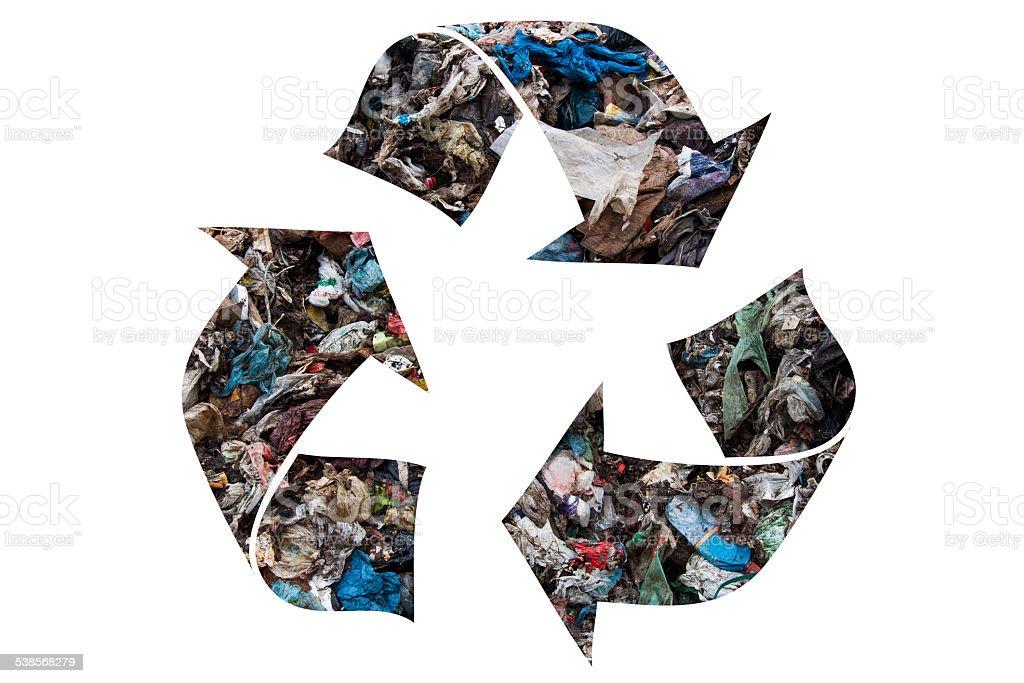 Recycling symbol stock photo