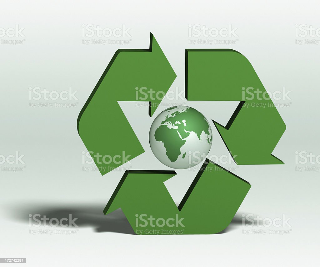 Recycling the Earth XL royalty-free stock photo