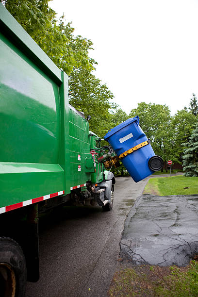 Recycling Truck stock photo