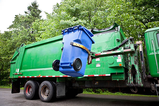 recycling truck - recycling bin stock photos and pictures