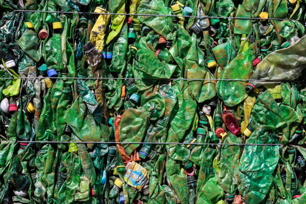 Recycling waste Plastic bottles - recycling waste. bottle bank stock pictures, royalty-free photos & images
