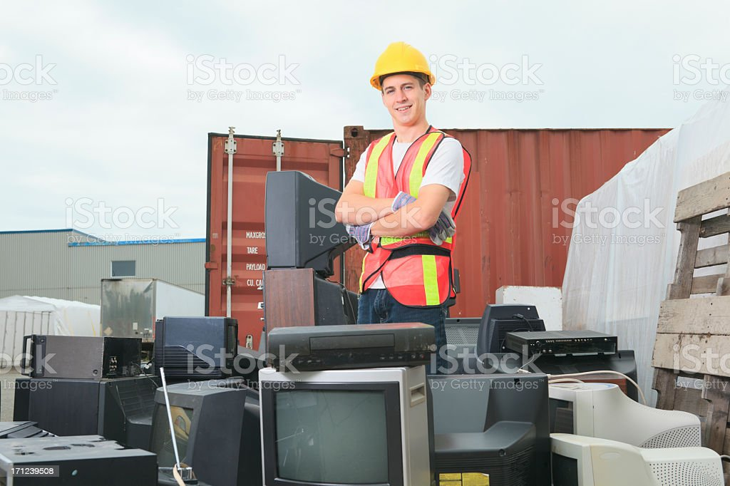 Recycling Worker - Proud Job royalty-free stock photo
