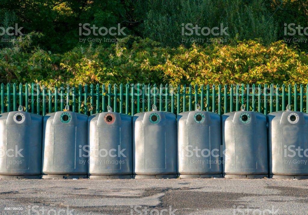 Recyle Bins stock photo