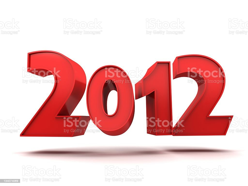 Red 2012 royalty-free stock photo