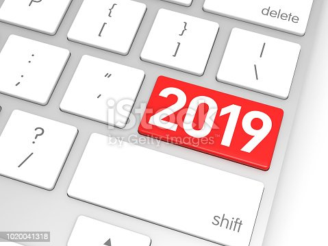 istock Red 2019 Enter Key 1020041318