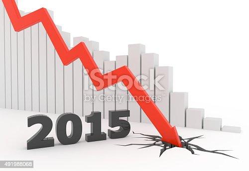 istock Red 3D 2015 arrow crash 491988068