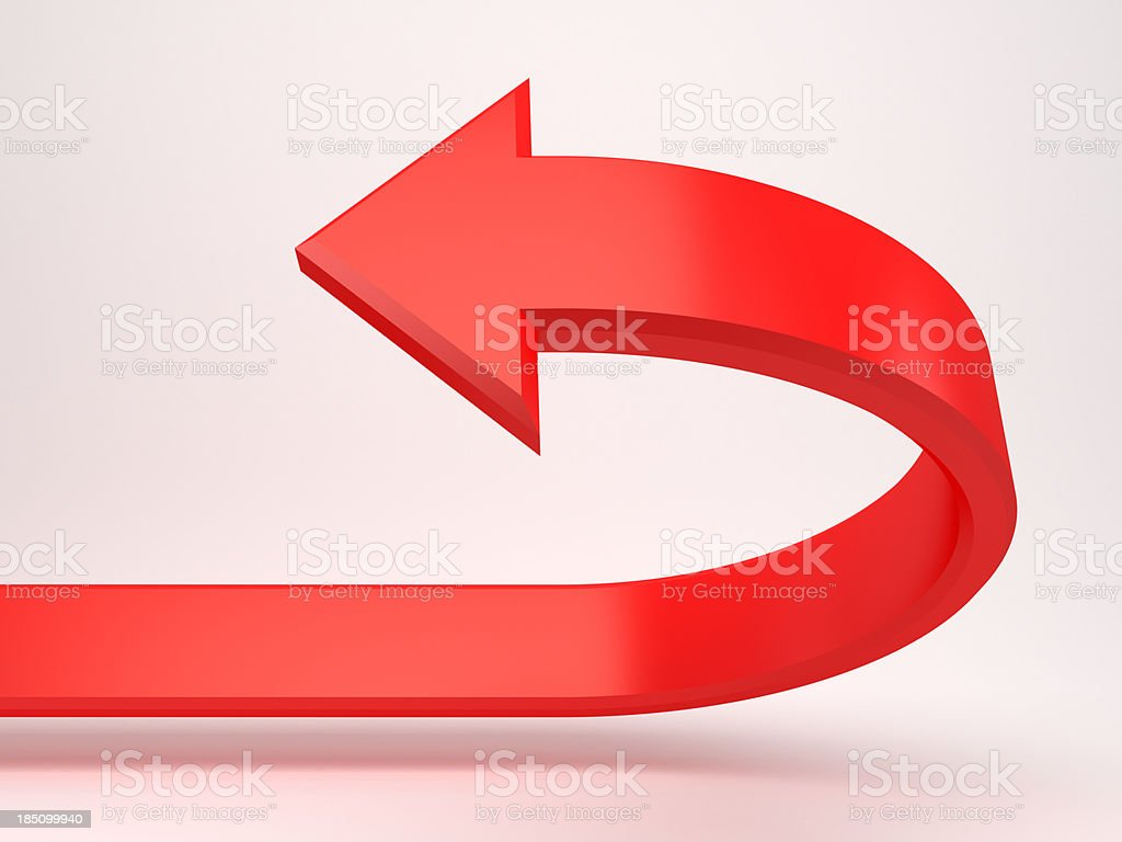 red 3d arrow concept background royalty-free stock photo