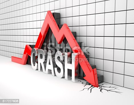 istock Red 3D arrow crash 517227608