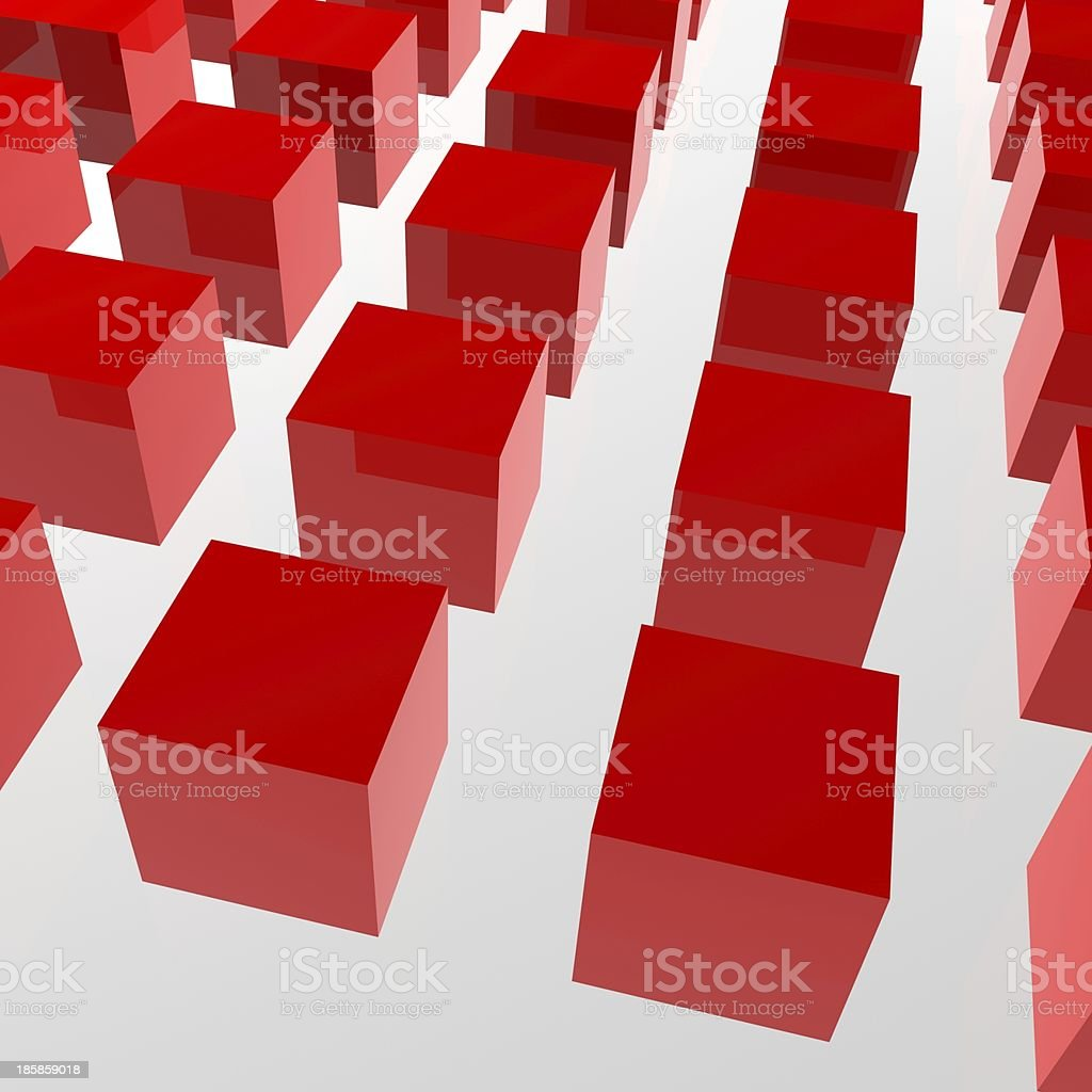 red 3D model cube background stock photo