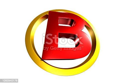 istock B red 3D. 1093940176