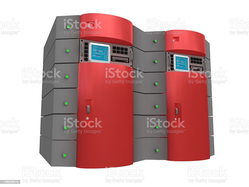 Red 3d server royalty-free stock photo