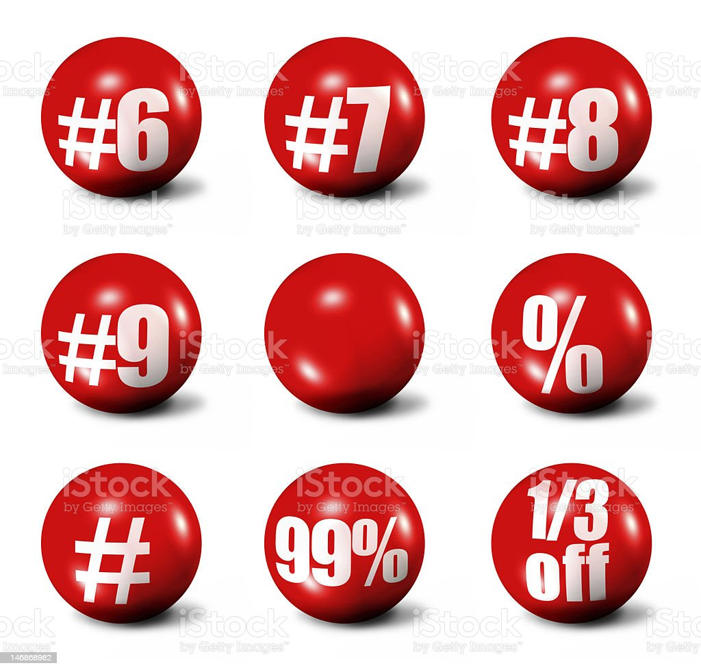 red 3D spheres royalty-free stock photo