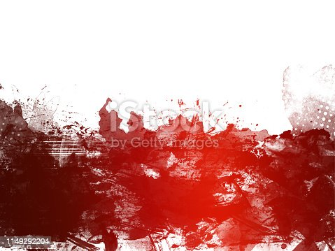 istock Red Abstract Artistic Watercolor Paint Background 1149292204
