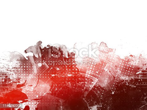 istock Red Abstract Artistic Watercolor Paint Background 1149292208