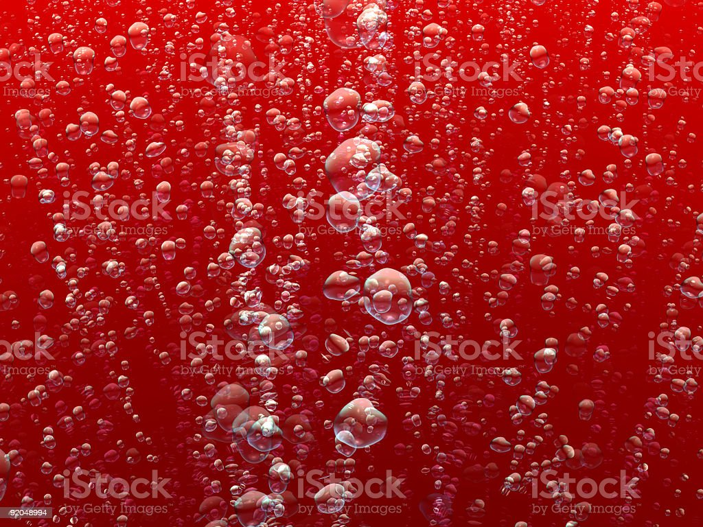 Red abstract bubbles background. stock photo
