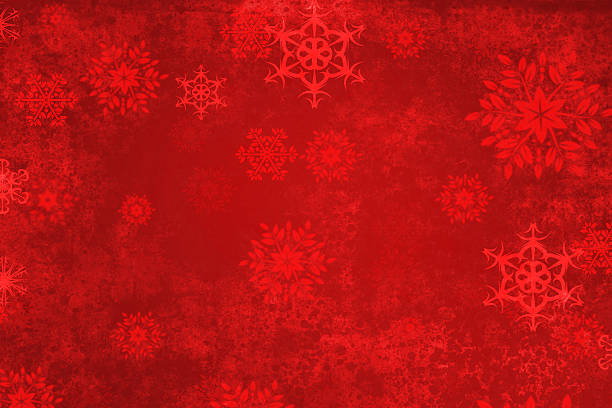 red abstract christmas background - snowflake stock photos and pictures