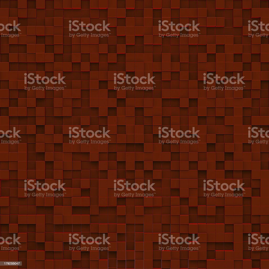 Red abstract image of cubes background royalty-free stock photo