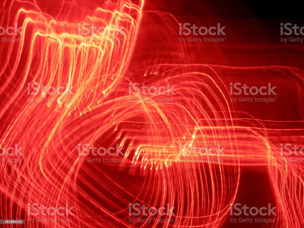 red abstract light lines stock photo
