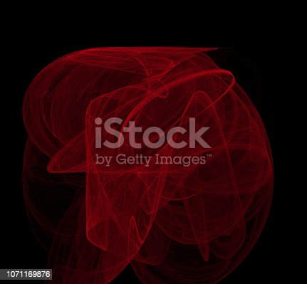 1011152398 istock photo Red abstract on black background. Fantasy fractal texture. Digital art. 3D rendering. Computer generated image. 1071169876