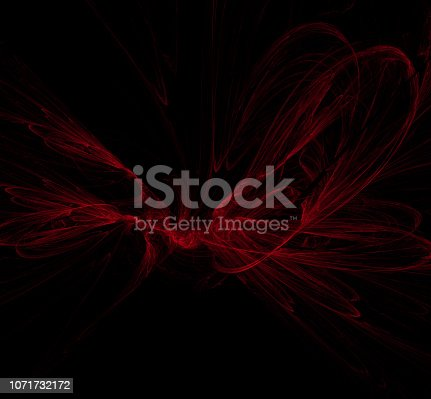 1011152398 istock photo Red abstract on black background. Fantasy fractal texture. Digital art. 3D rendering. Computer generated image. 1071732172