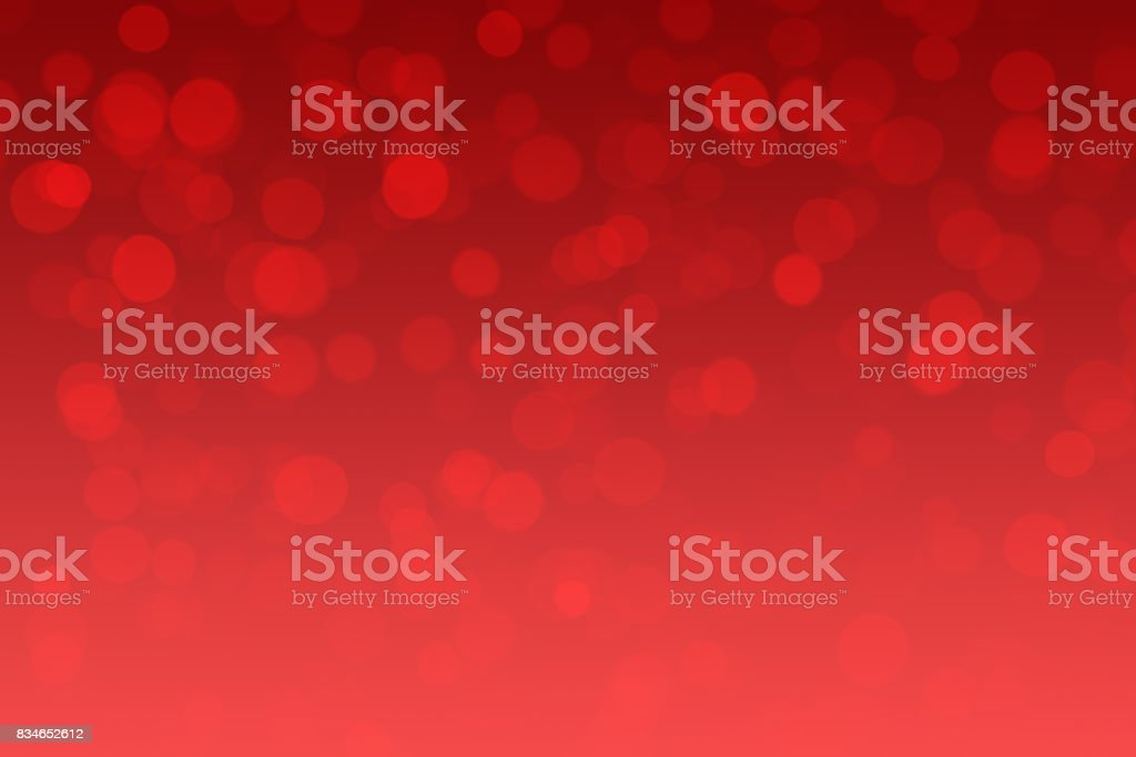 Red Abstract Shiny Christmas Lights Background stock photo