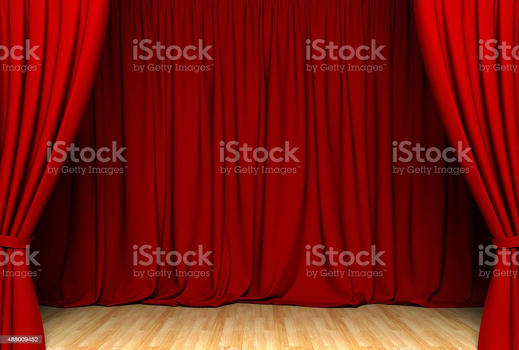 Red act drape stock photo