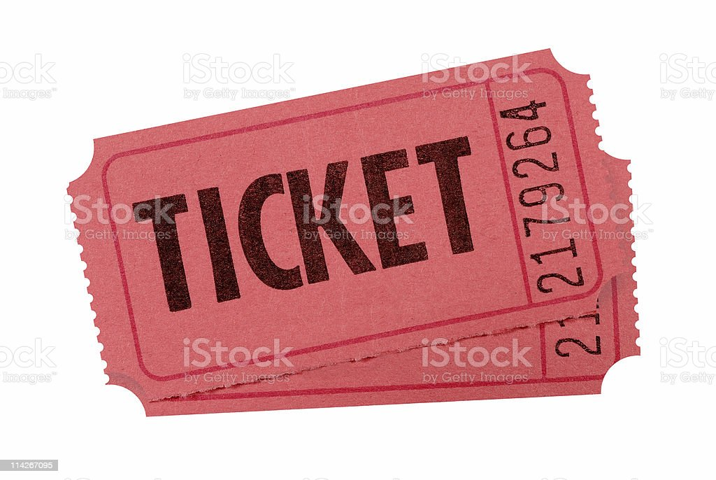 Red admission tickets royalty-free stock photo