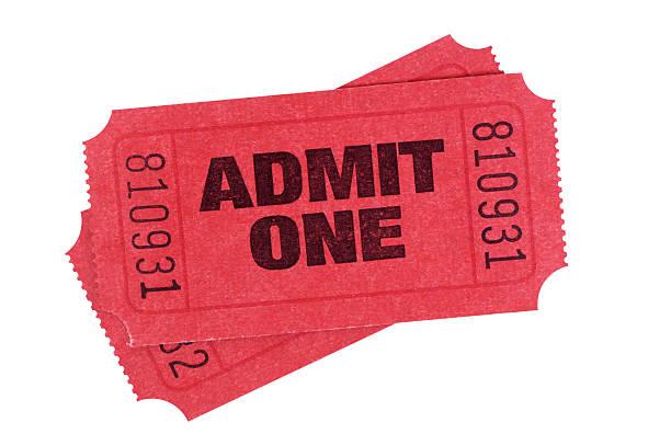 rosso biglietti d'ingresso - biglietto del cinema foto e immagini stock