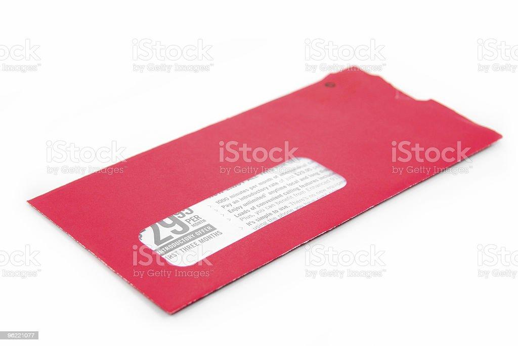 red advertising envelope royalty-free stock photo