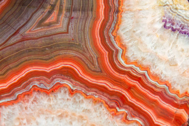 Red Agate mineral Red Agate mineral mineral stock pictures, royalty-free photos & images