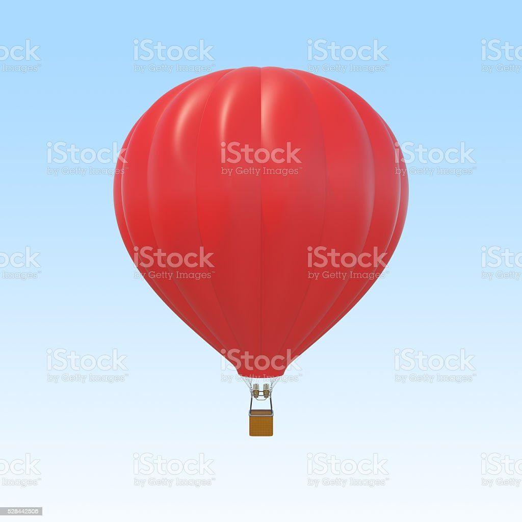 Red air ballon on sky background stock photo