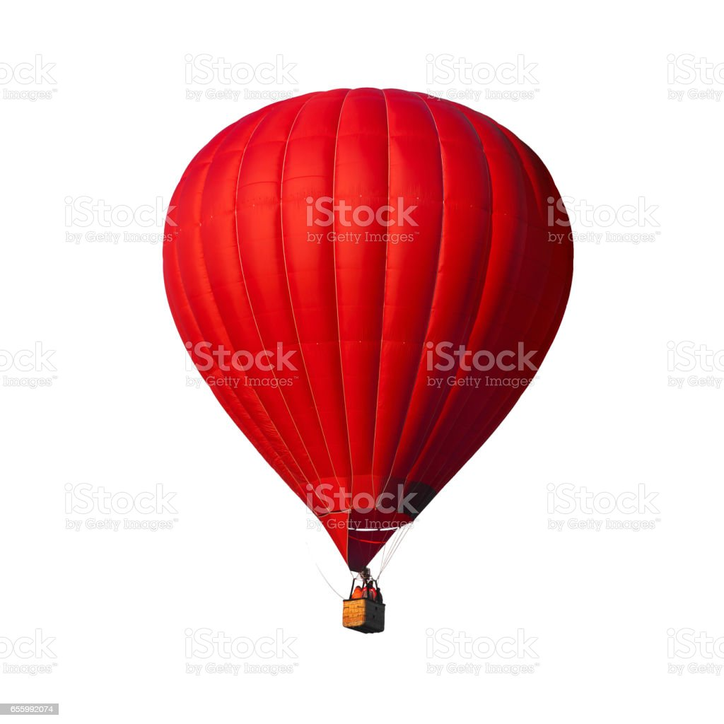 Red air balloon isolated on white стоковое фото