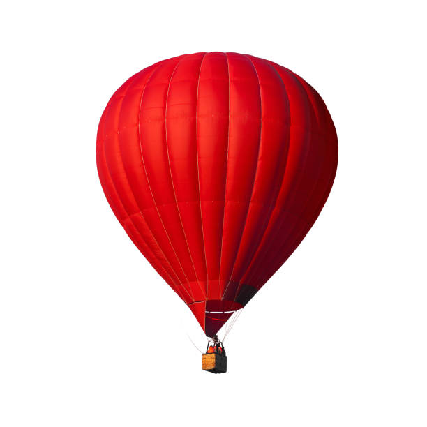 Red air balloon isolated on white stock photo