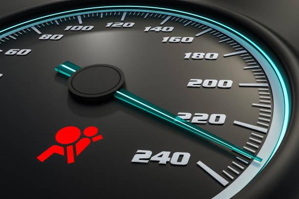 Rot Airbag Licht auf Armaturenbrett – Foto