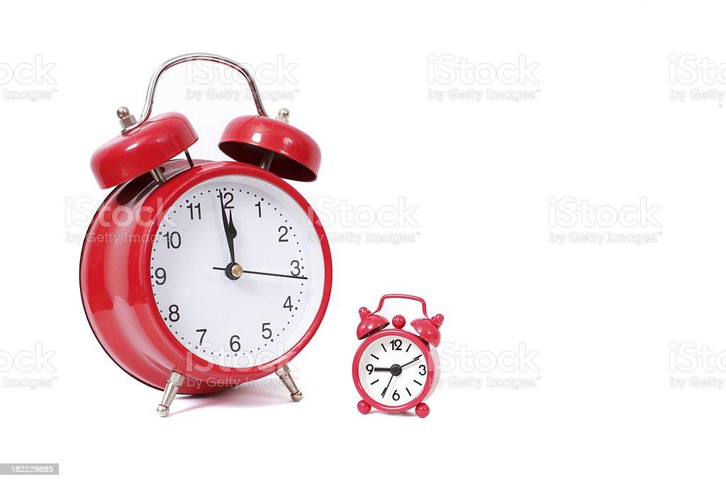 Red alarm clocks royalty-free stock photo